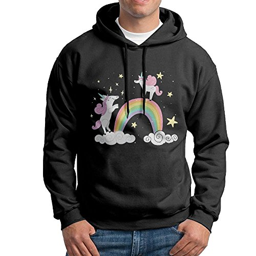 I Believe Unicorn Boys' Blacklong Sleeve Hoodie Sweatshirt ()