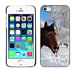Hot Style Cell Phone PC Hard Case Cover // M00001302 Horses Pattern // Apple iPhone 5 5S