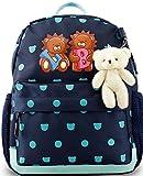 Toddler Kids Backpack for Boys and Girls, Children Preschool Little Bookbag, 12 inch (Dark Blue)