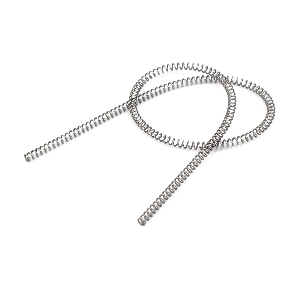uxcell Compression Spring,304 Stainless Steel,3mm OD,0.5mm Wire Size,305mm Free Length,Silver Tone