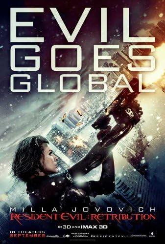 Amazon Com 11x17 Resident Evil Retribution Style A3 Poster