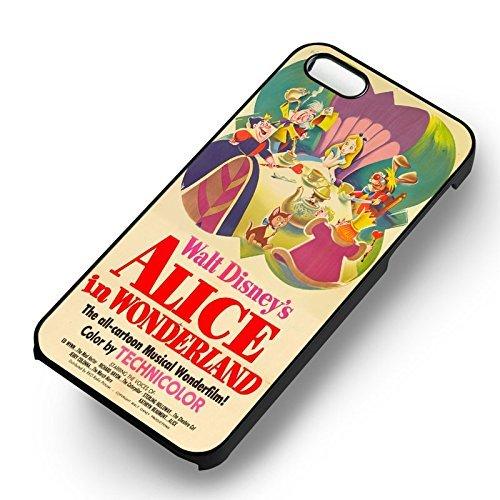 Alice in Wonderland Vintage Poster pour Coque Iphone 6 et Coque Iphone 6s Case (Noir Boîtier en plastique dur) O7S6VT