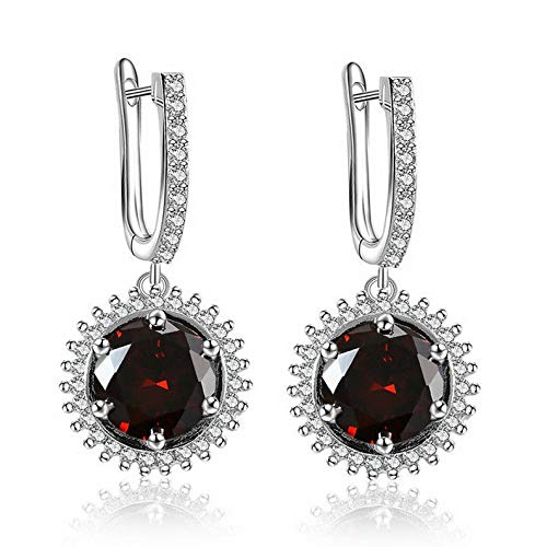 Endicot White Gold Plated Cubic Zirconia Dangle Drop Ear Stud Hoop Earrings Jewelry Gift | Model ERRNGS - 17089 |