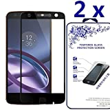 [2-Pack] Moto Z Play / Moto Z Play Droid Screen Protector ,Nacodex Tempered Glass Screen Protector For Moto Z Play / Moto Z Play Droid,Screen Protection Case Fit 99% Touch Accurate [Black]