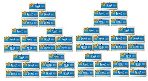 Premier Supermatic 100's Blue Light Cigarette Filter Tubes 1 Box of 200 (50) by Premier
