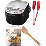 Zojirushi Micom Rice Cooker & Warmer (NL-BAC05) + Free Cookbook, Stir Fry Spatula and Nylon Flipper Tongs