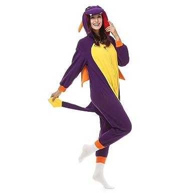 Adult Spyro the Dragon Onesie Polar Fleece Pajamas Cartoon Sleepwear Animal Halloween Cosplay Costume Unisex (  sc 1 st  Amazon.com & Amazon.com: Adult Spyro the Dragon Onesie Polar Fleece Pajamas ...