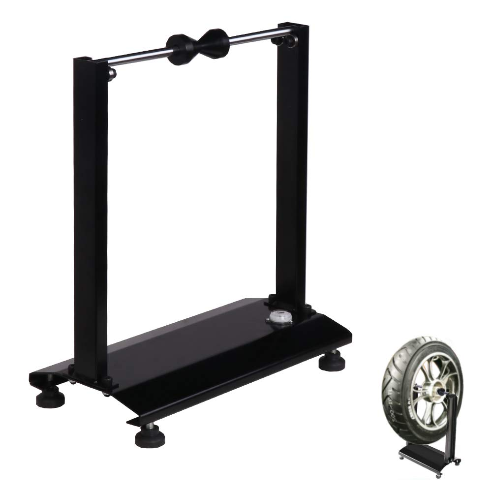 VI-CO Portable Motorcycle/Bicycle Wheel Balancer, Rim Tire Balancing Spin Static Truing Stand w/Adjustable Centering Cones by VI-CO
