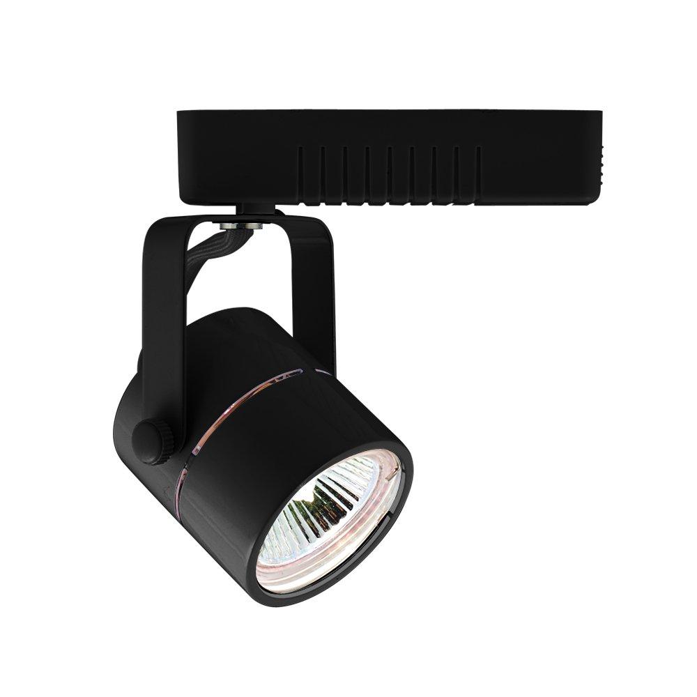 50 Watt Jesco Lighting HLV10950BK Mini Deco 109 Series Low Voltage Track Light Fixture Black Finish