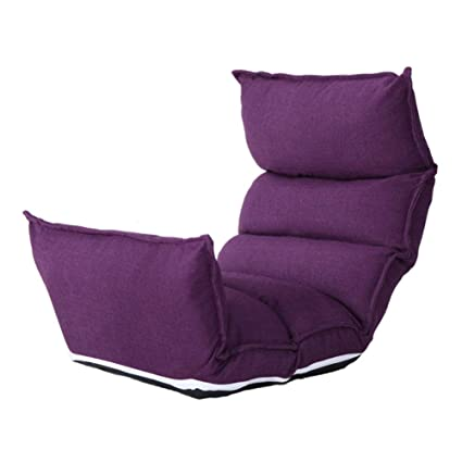 Ordinaire Floor Chair Adjustable Folding Lazy Single Sofa Removable And Washable  Linen Cloth Super Comfy Gaming Chairs