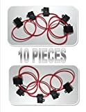 10 pcs Scosche 14 ga ATC Heavy Duty Fuse Holder 12 Volt Automotive Copper wire