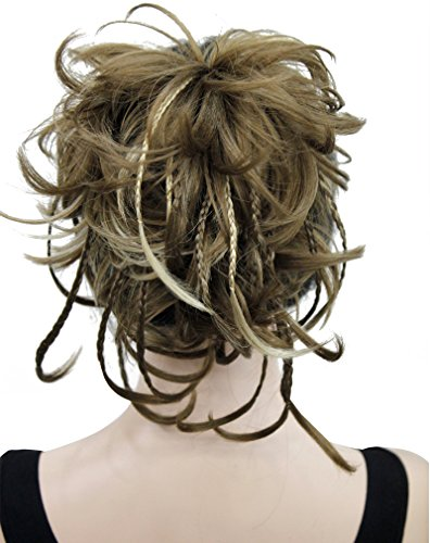 Kalyss 12 inch Short Wavy Culry Ponytail Handmade Braid Hair Extension With Claw Clip In Hairpiece (Braid With Ponytail)