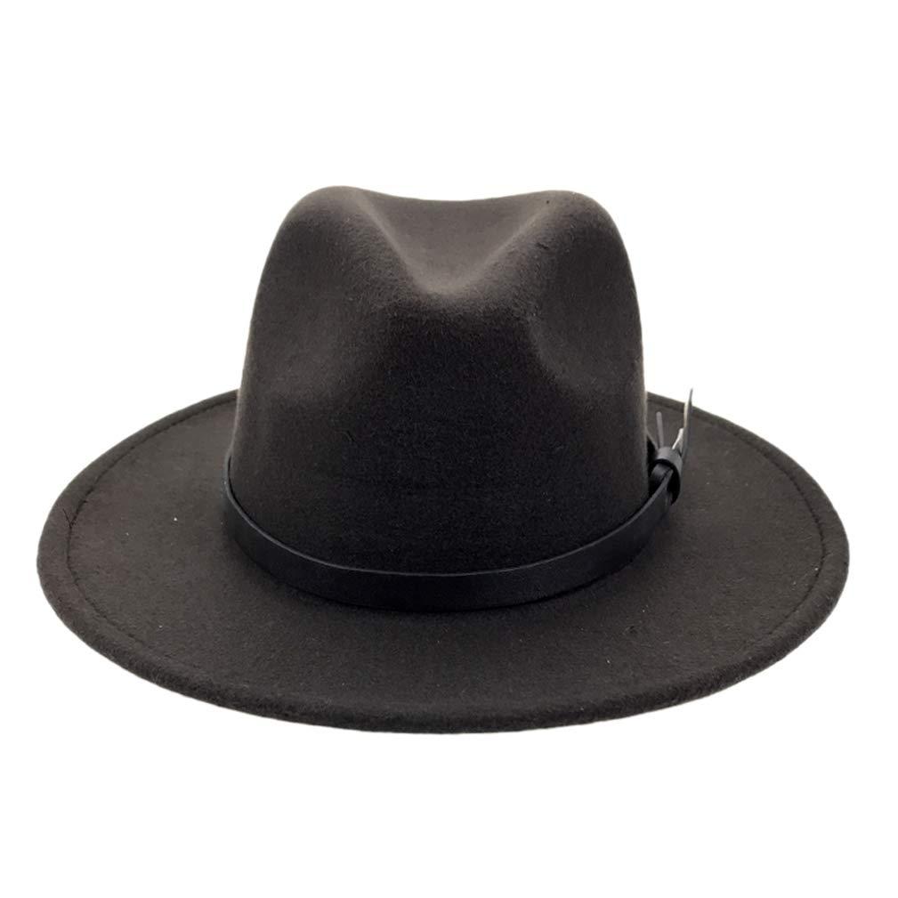 RXIN Women Men Wool Fedora Wide Brim Gentleman Elegant Felt Caps