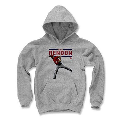 500 LEVEL's Anthony Rendon Kids Youth Hoodie M Gray - Anthony Rendon Play R - Washington Baseball Fan Gear Officially Licensed by the MLB Players Association