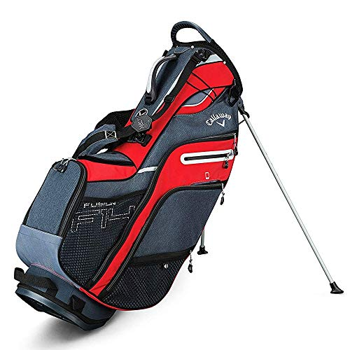 Callaway Golf 2019 Fusion 14 Stand Bag, Red/Titanium/Silver