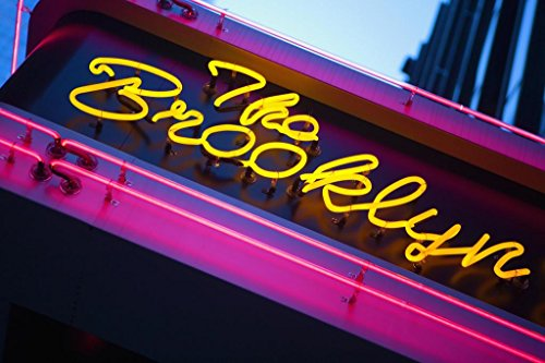 (The Brooklyn Neon Sign Times Square New York City NYC Photo Art Print Poster 36x24 inch)