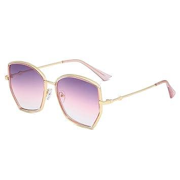Z&HA Mujeres Gafas de Sol de Gran tamaño Hexagonal Marco de ...