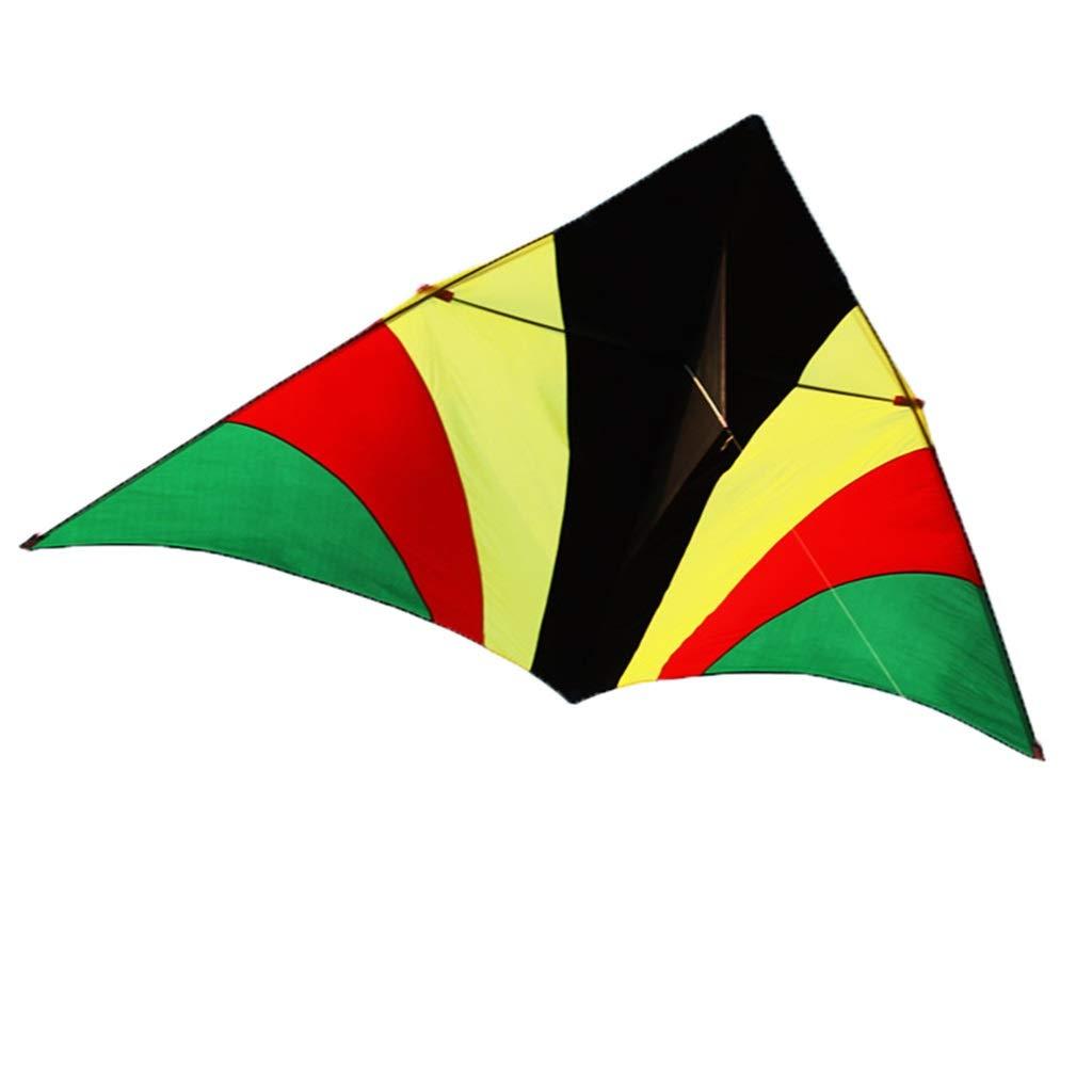 屋外の凧、大きく多彩な三角形の凧公園の大人の滑らかな初心者の飛行おもちゃ、270 * 150CM (色 : A) B07RFGLL6H B  B
