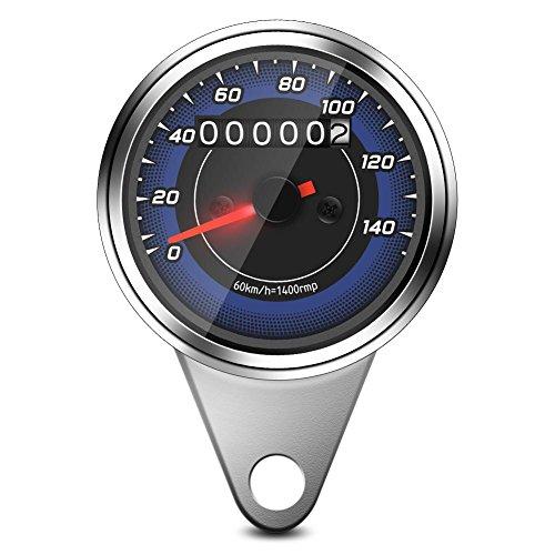 Motorfiets Odometer – 1 st Universele Motorfiets Speedometer Odometer Motorfiets Speedometer Gauge KM/H Speedo Meter met…