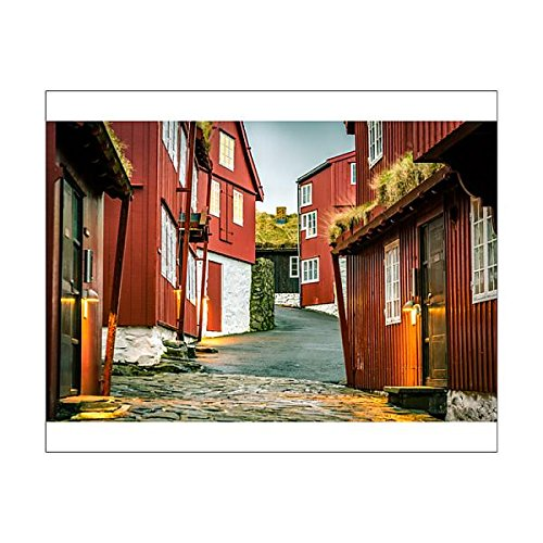 10x8 Print of The old parliament building of Faroe Islands in Torshavn (14574473)
