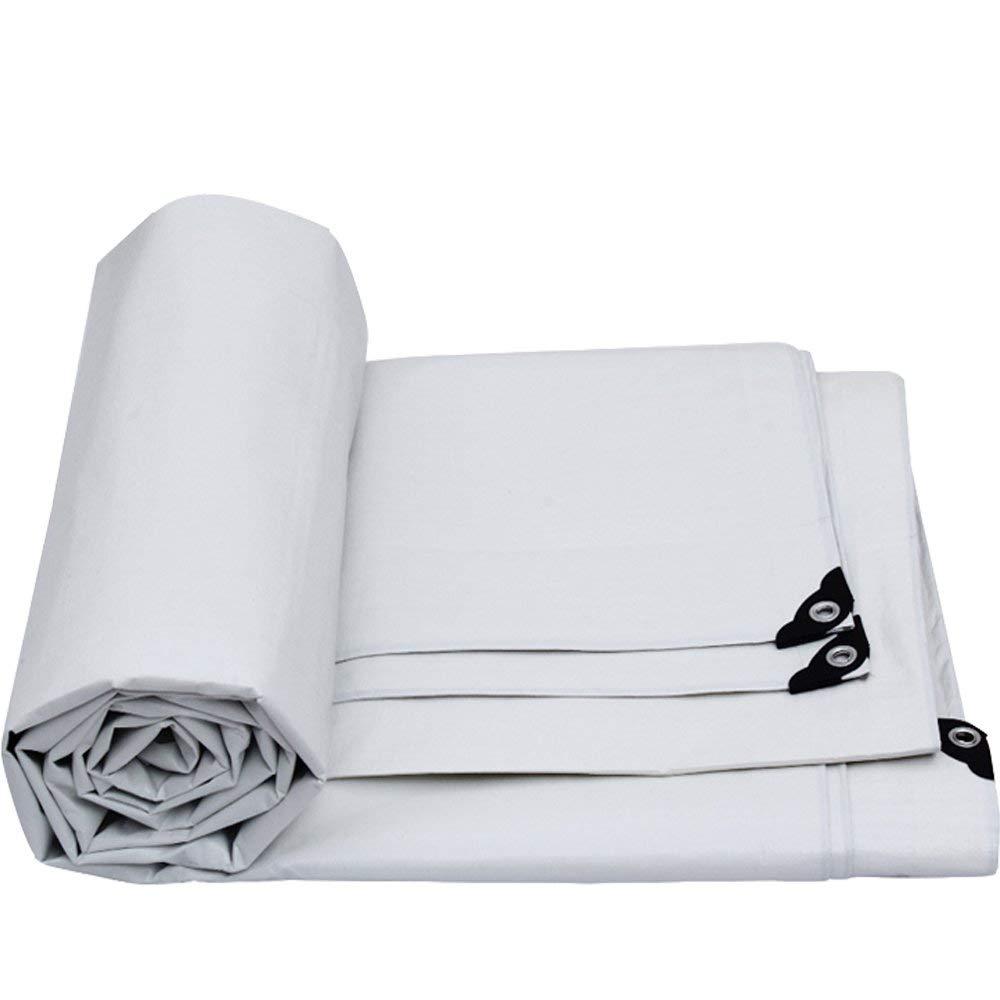Yetta Plane, beidseitig wasserdicht, perforiert, geeignet für Zelte, Camping, Verschiedene Größen erhältlich, weiß (Größe   10M8M)