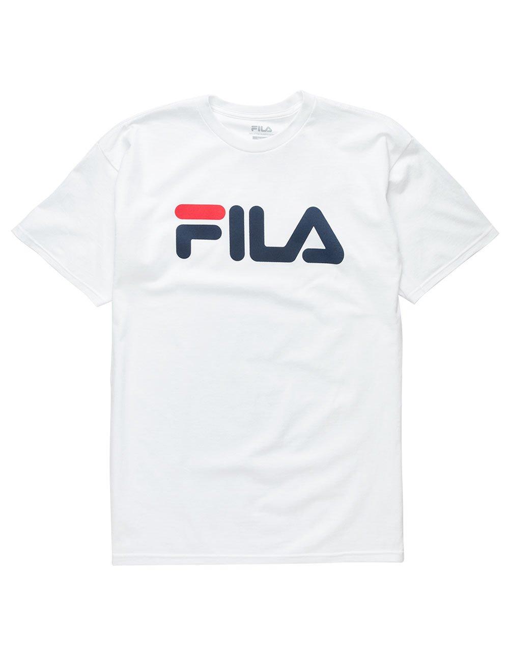 Fila Men's Printed Tee, White/Peacoat, Small