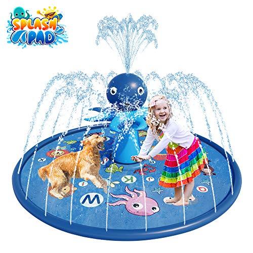 🥇 Blasland Sprinkler for Kids – Octopus Sprinkler Splash Mat 67″