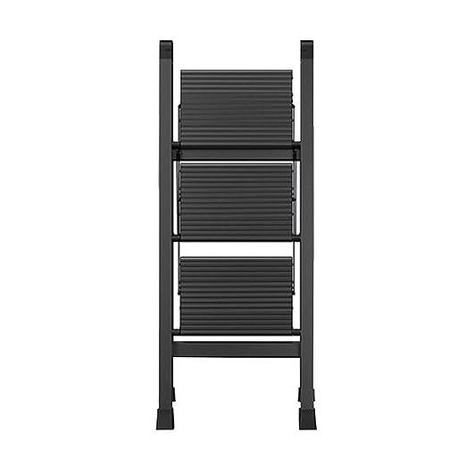 Escalera plegable de aluminio de 3 peldaños, escalera robusta y ...