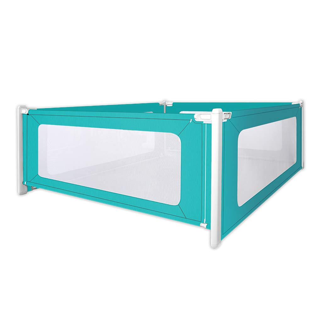 HWH 四辺のベッドのフェンス、ベイビー垂直のリフトスペースの節約ベッドの寝室の寝室のベッド寝台の防護の保護柵、1.5-2Mを歩くことを学ぶ ゲームハウス (色 : Green, サイズ さいず : 180*200CM) B07JY8G425 Green 180*200CM