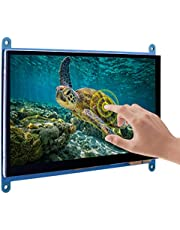 "Kuman Capacitive 7"" inch Touch Screen IPS LCD Module HDMI 1024X600 for Raspberry Pi 2 and RPi 1 Model B B+ BB Black SC7B (7"" inch IPS 1024X600)"