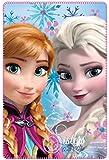 Disney Frozen PH4022_2 - Coperta plaid in pile 100x150cm morbida Anna Elsa
