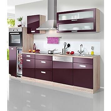 Held möbel küchenzeile mit e geräten fulda mit autarken elektrogeräten breite 280