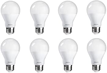 8-Pack Philips 60W Equivalent Soft White A19 Light Bulb
