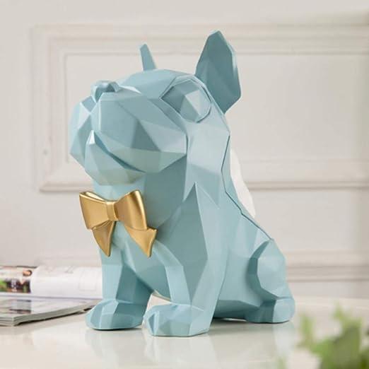 Geometría Creativa Cute Bulldog con Corbata Soporte de Papel ...