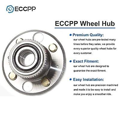 ECCPP Wheel Bearing Hub 513105 X2 Hub Assemblies Rear Axle 4 Lugs ABS for Acura EL, Acura Integra, Acura Integra 97-01 GS-R, Acura Integra, Acura Integra 97 RS, Honda Civic, Honda Civic del Sol: Automotive