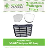 Crucial Vacuum Shark Navigator Lift-Away Filter Kit with 1 HEPA Filter, 1 Foam Filter and 1 Felt Pre-Filter