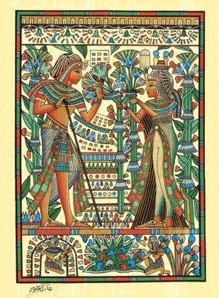 Egyptian papyrus paintings