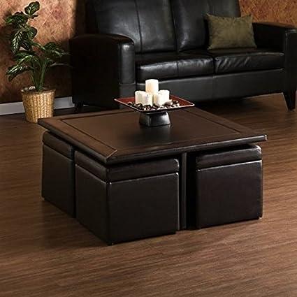 Amazon Com Living Room Rectangular Custom Wood Brown Coffee Table