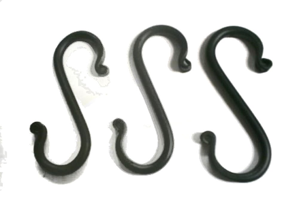 Wrought Iron Hook Small ''S''- Lot 3 Hand Made