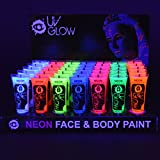 UV Glow Neon Face and Body Paint - 10ml Case of 24 - Fluorescent