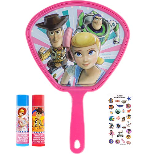 Disney Toy Story 4 Super Sparkly Lip Balm Set for Girls, Set Includes: 2 Lip Balms, Nail Stickers and Handheld Mirror]()