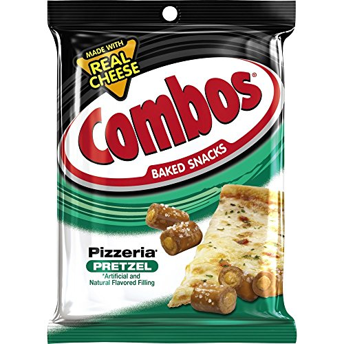 COMBOS Pizzeria Pretzel Baked Snacks 6.3-Ounce Bag (Pack of 12) ()