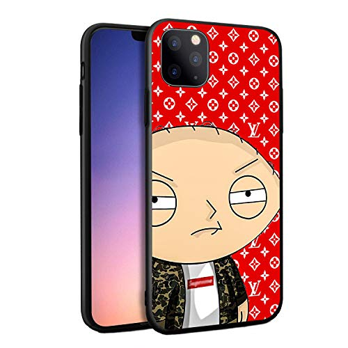 Stewie Luxury Fashion Famous TV Show Animation Cartoon Funny Design 3D Relief Hard PC Cover Protective Case for iPhone 11 Pro iPhone 11 Pro Max (iPhone 11) (Best Pc For 3d Animation)