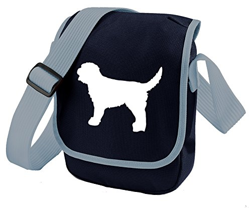 Silhouette Choice Shoulder Reporter Gift Colours Bag Bag Bag White Labradoodle Blue Bag of Labradoodle Labradoodle Dog HaYqx