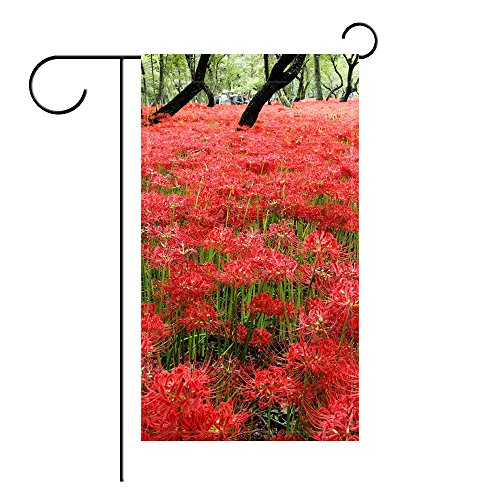 YourPink Garden Flag Flowers Meadow Trees Park 12x18 inches(Without - Meadows 12 Park
