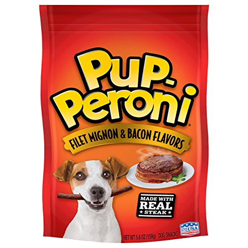 Cheap Pup-Peroni Original Filet Mignon & Bacon Flavor Dog Snacks, 5.6-Ounce (Pack of 8)