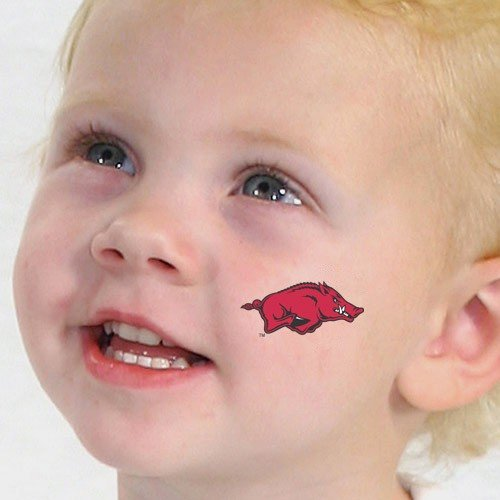 - NCAA Arkansas Razorbacks Temporary Tattoos