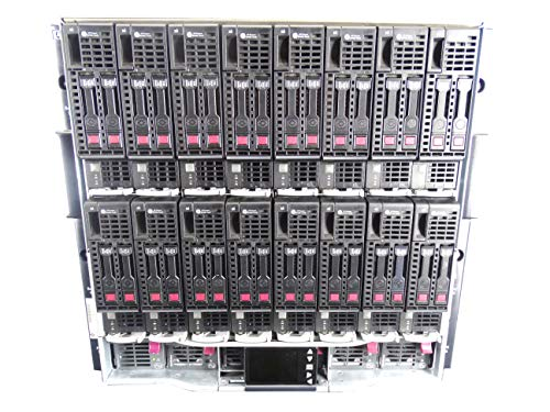 HP c7000 Chassis with 8X BL460c G8 Server (Per Blade: 2X Intel Xeon E5-2603 1.8GHz 4 Core, 64GB DDR3, 2X 800GB SATA 6Gbps 2.5 SSDs, P220i), 6X 2650 PSUs, Rails - Server Blade