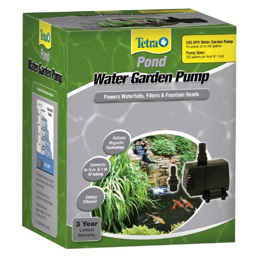 Tetrapond water garden pump powers import it all for Water feature filter