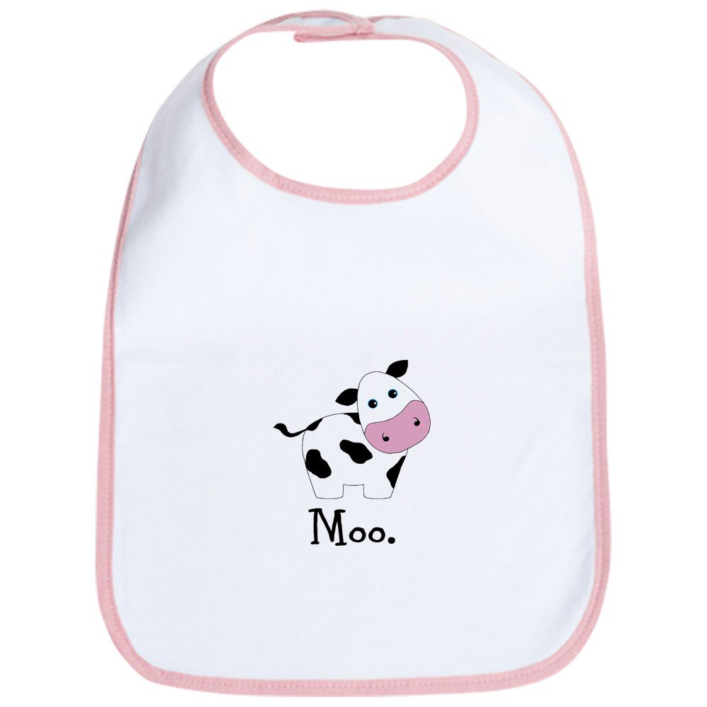 CafePress - Moo Cow Bib - Cute Cloth Baby Bib, Toddler Bib